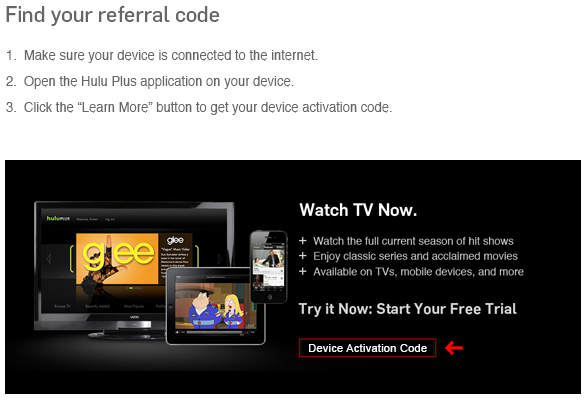 hulu plus activation code