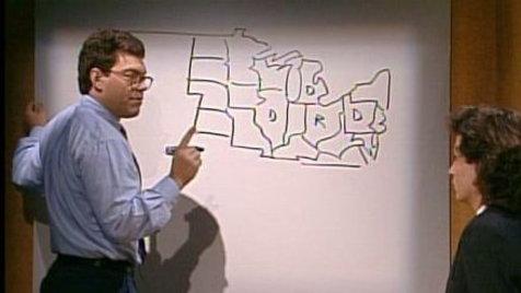 Saturday Night Live Al Frankens Electoral Map Clip Hulu - Al franken draws us map